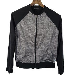 TUFF ATHLETICS Black & Gray Full Zip Jacket M